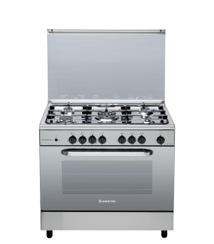 Ariston Gas cooker, 5 Burners , Full Safety, Auto Ignition, Steel CN 5SG1(X) EX