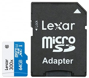 Lexar LSDMI64GBBEU300A - microSDXC High Speed 64GB - with Adapter Class 10 300x
