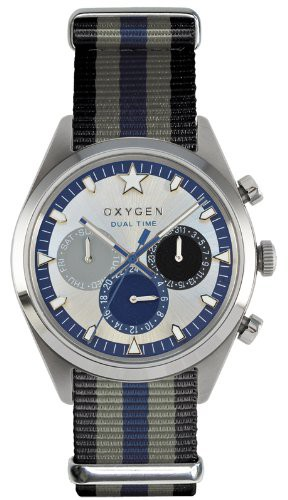 Oxygen Pacific 40 Unisex Quartz Blk/Gry/Navy Watch