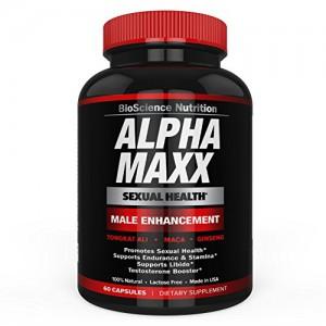 Arazo Nutrition - AlphaMAXX Male Enhancement Supplement - Ginseng, Muira Puama, Tribulus - 60 Herbal Pill
