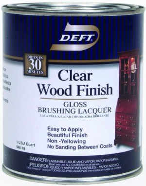 Deft - Interior Clear Wood Finish- Gloss Brushing Lacquer - Quart