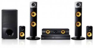 LG 1000W 5.1 Channel, USB Recording DVD Home Theater System -  DH6330P