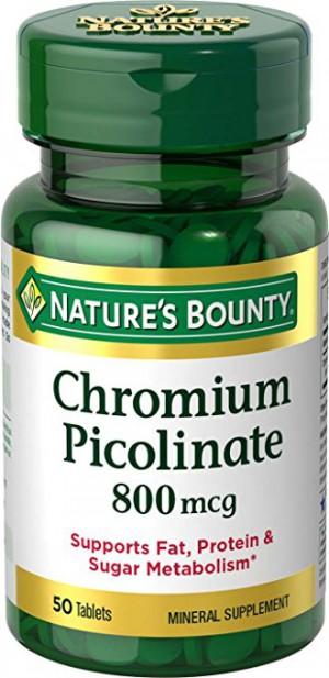 Nature's Bounty Mega Chromium Picolinate 800 Mcg., 50 Tablets
