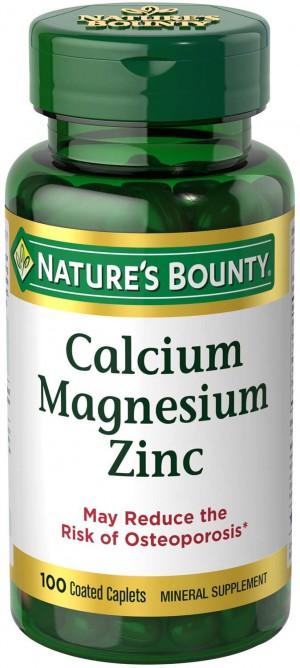 Nature's Bounty Calcium Magnesium Zinc, 100 Caplets