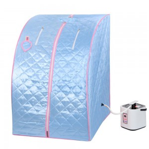 Everything Jingle Bell Blue 2L Portable Home Steam Sauna Spa Slimming Full Body Detox Therapy Loss Weight