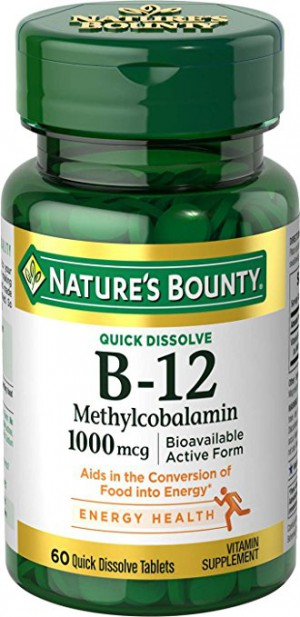 Nature's Bounty Methylcobalamin Vitamin B 12 1000 Mcg