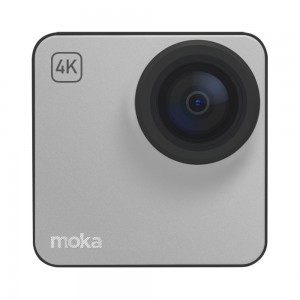 Mokacam 4K Life Action Camera (extra battery and screen included)