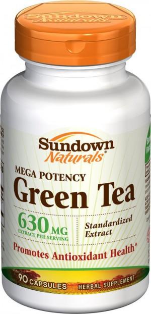 Sundown Naturals, Mega Potency Green Tea 630mg 90caps