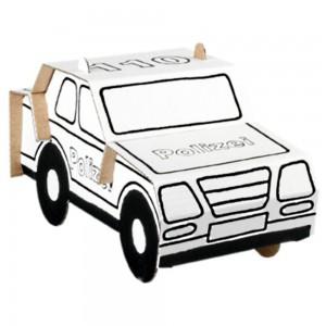 Calafant Police Car Cardboard Construction Set