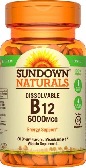 Sundown Naturals Sublingual Vitamin B-12 6000 mcg