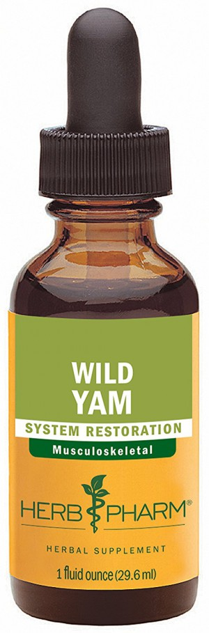 Herb Pharm Certified Organic Wild Yam Extract for Musculoskeletal System Support - 1 Ounce
