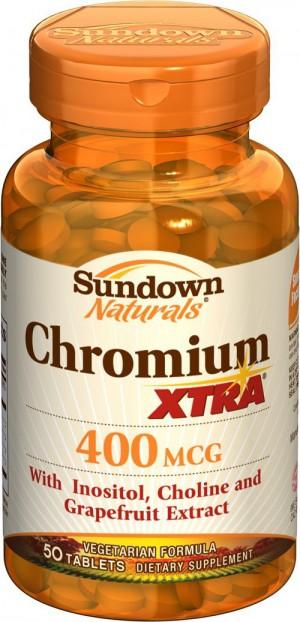 Sundown Natural Chromium 400 mcg XTRA 50 tablets