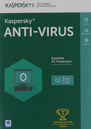 Kaspersky Antivirus 2016 3+1 User