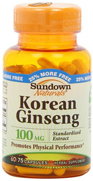 Sundown Naturals Korean Ginseng Standardized 100 Mg Capsules