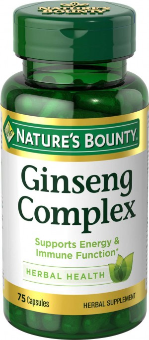 Nature's Bounty, Ginseng Complex, 75 Capsules