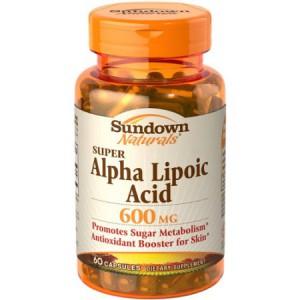 Sundown Naturals, Super Alpha Lipoic Acid, 600 mg, 60 Capsules