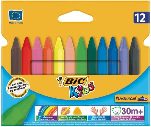 BiC Kids Plastidecor Triangle Colouring Crayons (Pack of 12)