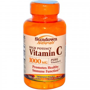 Sundown Naturals, High Potency Vitamin C, 1000 mg, 100 Caplets