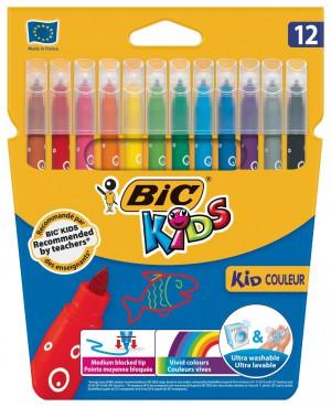 Bic Kids Couleur Felt Pen Assorted, Pack 12