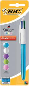 BiC 4 Colour Shine Ballpen Single