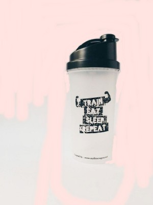My Fitness Gear Protein Shaker Bottle 700 ml (Train Eat Sleep Repeat)
