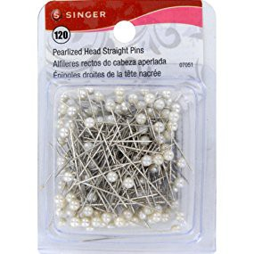 SINGER PEARLIZED BALL HEAD STRAIGHT PINS - 120 COUNT
