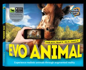 Arevo Augmented Reality 3D EVO Book: EVO Animal