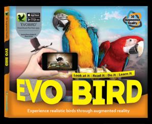 Arevo Augmented Reality 3D EVO Book: EVO Bird Book