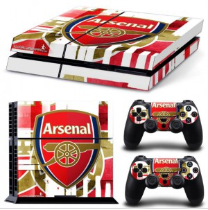 Football Team Arsenal Decal Skin For Playstation 4 Stickers PS4 Console Skin+2 Pcs Stickers For PS4 Controller