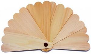 Kizara Folding Fan Sensu of Hinoki cypress (6 DISC)