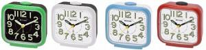 Rhythm - Value Added Bell Alarm Clocks - White,Red,Blue,Green Case