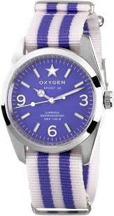 Oxygen Unisex Watch EX-S-LIL-38 White / Lilas