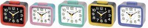 Rhythm - Basic Bell Alarm Clocks - Green,Red,Blue,Pink,Yellow Case