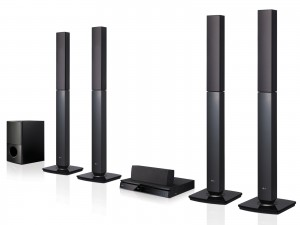 LG DVD Home Theater System, 1000W, 5.1CH - LHD657