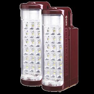 Elekta Rechargeable 2 Lanterns Combo Pack With 24 Smd LED Lights ELEDE-F-6007