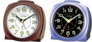 Rhythm - Basic Bell Alarm Clocks - Brown-beige, Blue Black Case