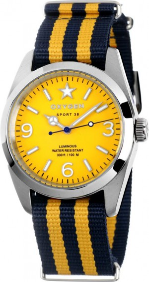 Oxygen EX-S-LEM-38 Sport Lemon Watch Navy / Yellow