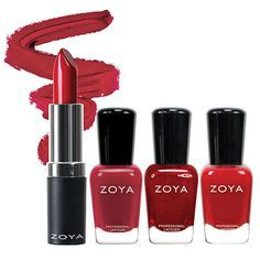 Zoya Lips & Tips Quad Gifts Set (Red-ZPHOL1505)