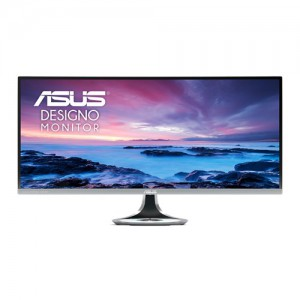 ASUS Designo Curve MX34VQ Ultra-wide Curved Monitor - 34 inch, UWQHD, 1800R Curvature, 100Hz, Frameless, Qi Wireless Charger, Audio by Harman Kardon, Flicker Free, Blue Light Filte