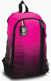 U.S. Polo Assn. Backpack Pink & Black - PLÇAN6392