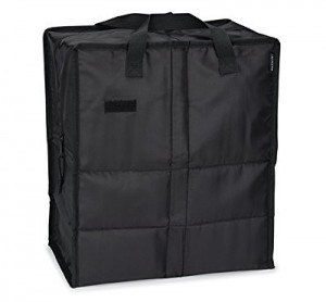 PackIt Freezable Grocery Shopping Bag with Zip Closure, Black