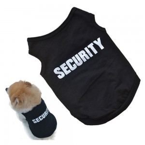 Baost SECURITY Dog Shirt Summer Clothes for Pet Puppy Tee shirts Dogs Costumes Cat Tank Top Vest - 123458637
