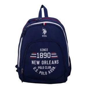 "US POLO Back Pack Blue 18"" - PLÇAN6312"