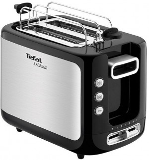 Tefal New Express Toaster 2 Slot Stainless Steel - TT365027