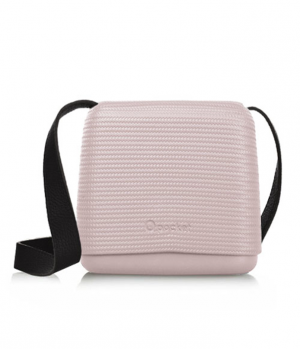 O pocket In Smoke Pink With Black Faux Leather Strap - (OPB61-OPHF01)