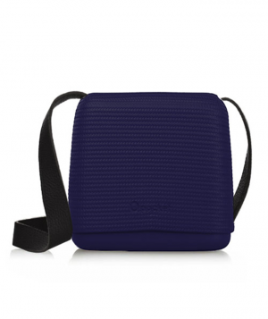 O pocket In Iris With Black Faux Leather Strap  (OPB50-OPHF01)