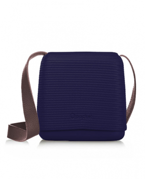 O Pocket In Iris With Brown Faux Leather Strap - OPB50-OPHF02