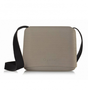 O Pocket In Rock With Black Faux Leather Strap  (OPB17-OPHF01)