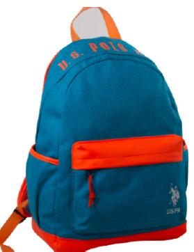 """US POLO Back Pack light Blue 17.5"""" - PLÇAN6382"""