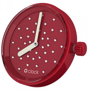 O'clock Crystal Watch Dial - Ruby Red - OCF48